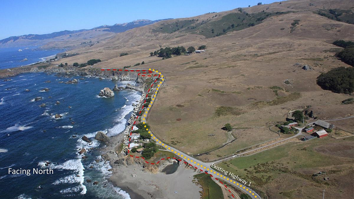 Coastal erosion visualization before.