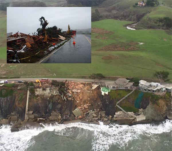 Photo of coastal damage.