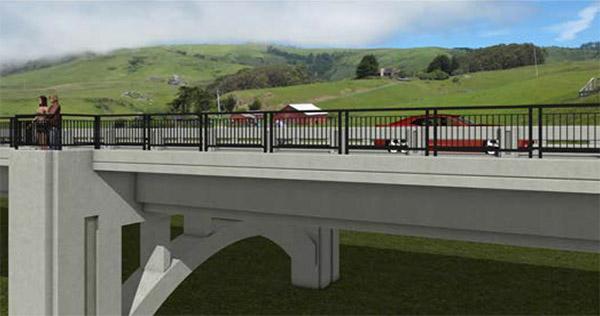 3D visualization of proposed bridge.