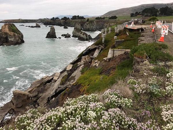 Photo of coastal erosion.