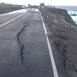 Photo of damage to SR1